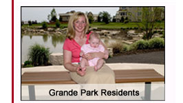Family atmosphere in Grande Park's Plainfield homes.